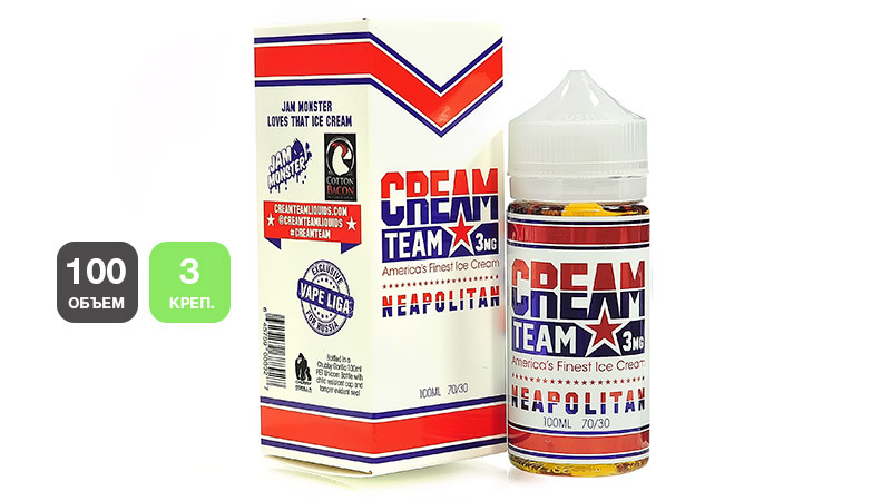 Жидкость CREAM TEAM Neapolitan (100 мл, 3 мг/мл)