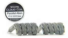 Комплект спиралей WHITE CLOUD Parallel Alien Fused Clapton |3x0.5+0.15мм|+0.5|
