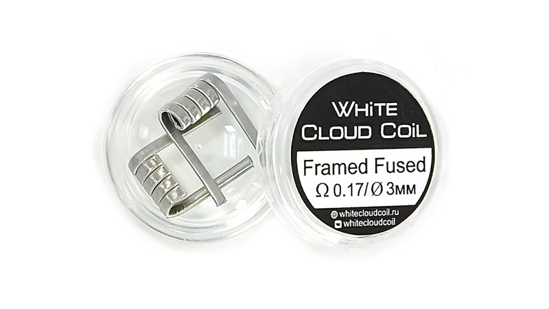 Комплект спиралей WHITE CLOUD Framed Fused Clapton (2x0.4+10x|0,1х0,4|+0.1мм), 2 штуки