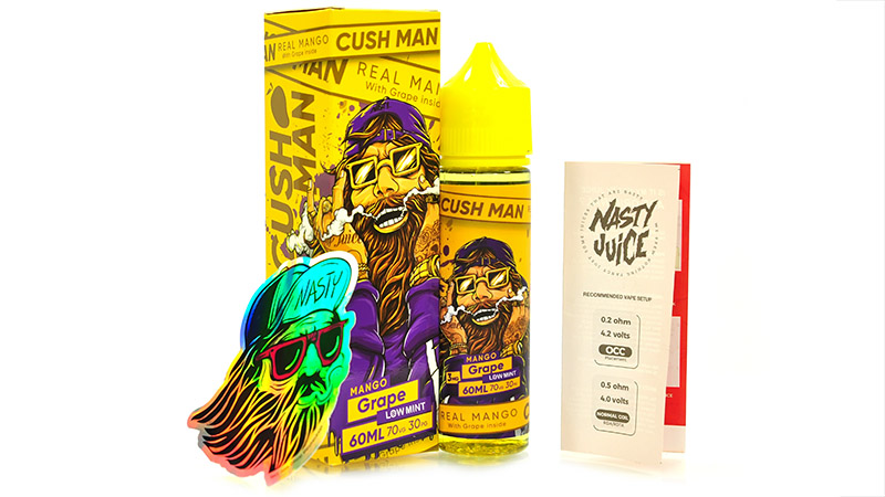 Жидкость NASTY CUSH MAN Grape (60 мл, 3 мг/мл)