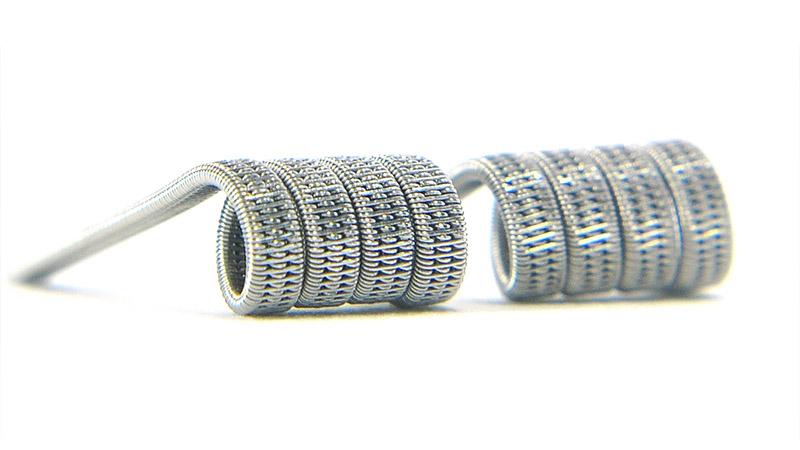 Комплект спиралей WHITE CLOUD Triple Staggered Fused Clapton (3x0.4+0.15мм), 2 штуки