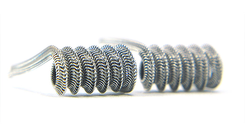 Комплект спиралей WHITE CLOUD Mohawk Alien Fused Clapton (3x0.4+0.1мм), 2 штуки