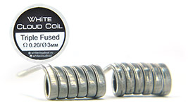 Комплект спиралей WHITE CLOUD Triple Fused Clapton |3x0.4+0.1мм|