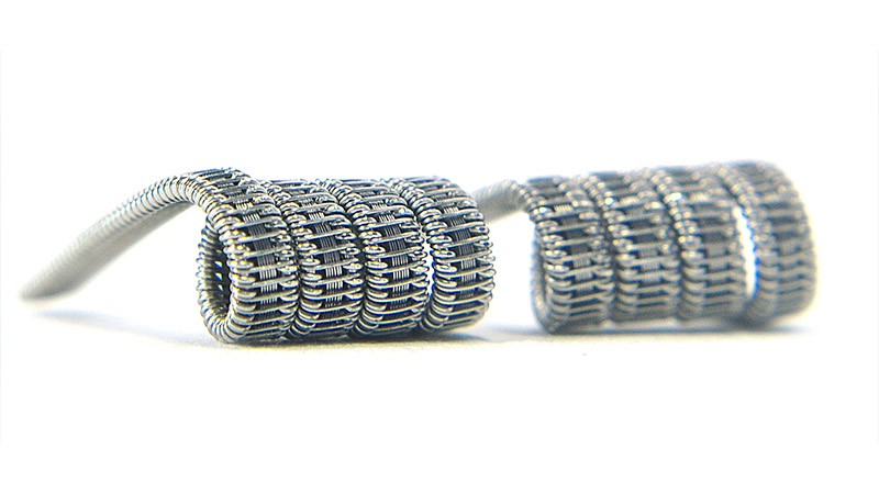 Комплект спиралей WHITE CLOUD Staple Staggered Fused Clapton (2x0.4+6x|0,1х0,4|+0.15мм), 2 штуки