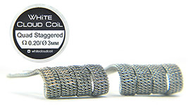 Комплект спиралей WHITE CLOUD Quad Staggered Fused Clapton |4x0.3+0.15мм|
